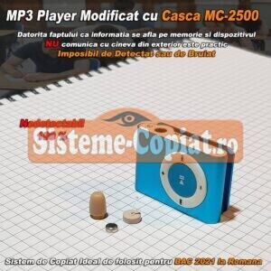 Mp3 player cu casca de copiat fara fir